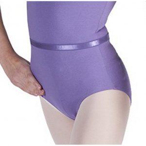 Elastic ballet belt for uniform leotard